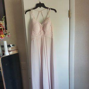 Azazie Eden Bridemaids Dress in blushing pink